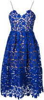 Self-Portrait lace-embroidered dress - women - Polyester/Spandex/Elastane - 12