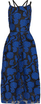 Thumbnail for your product : Roland Mouret Kimpton Cotton And Silk-blend Fil Coupe Midi Dress