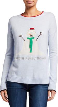 LISA TODD Having A Meltdown Snowman Holiday Sweater