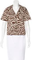Kate Spade Cropped Zebra Print Jacket w/ Tags