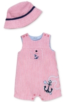 Little Me 2-Pc. Cotton Seersucker Hat & Anchor Romper Set, Baby Boys (0-24 months)