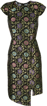 Josie Natori Jacquard Print Dress