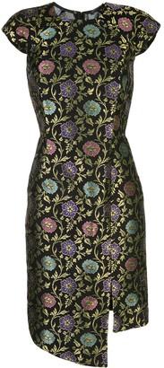 Josie Natori jacquard print dress