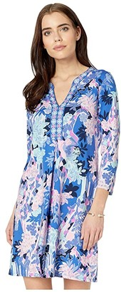 Lilly Pulitzer Melli Dress (Iris Blue Giraffic Park) Women's Clothing