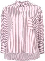 Nili Lotan boxy asymmetric striped shirt