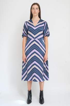 Levete Room - Dell Dress In Blues Combination - S