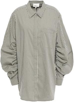3.1 Phillip Lim Ruched Gingham Cotton-blend Poplin Shirt