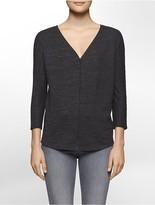 Calvin Klein Knit Heathered 3/4 Sleeve Top