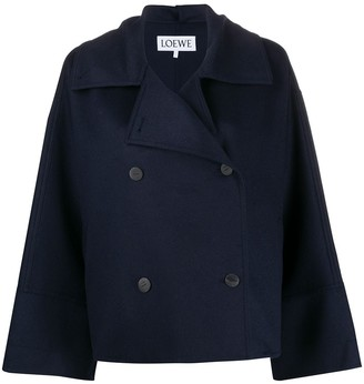Loewe Double Breasted Boxy Peacoat