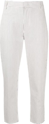Dondup Pinstripe Cropped Trousers