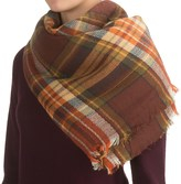 La Fiorentina Oversized Square Plaid Scarf (For Women)