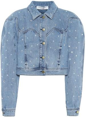 Philosophy di Lorenzo Serafini Embellished cropped denim jacket