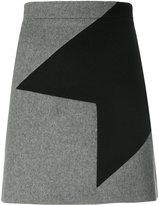 MSGM geometric motif mini skirt
