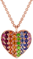 Sabrina Designs 14K Rose Gold 0.49 Ct. Tw. Sapphire Heart Necklace