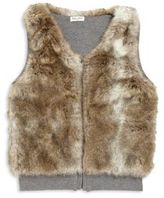 Splendid Girl's Reversible Faux Fur Vest