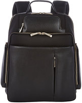 Barneys New York MEN'S SAFFIANO LEATHER-TRIMMED BACKPACK