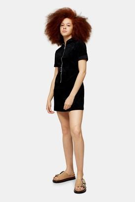 Glamorous Womens **Black Belted Corduroy Dress By Black