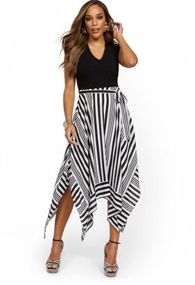 New York & Co. Mixed Media Hankerchief Dress