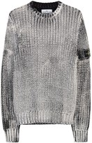 Stone Island Corrosion Fisherman-knit Cotton Jumper