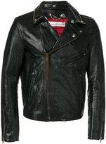 Golden Goose Deluxe Brand Berry biker jacket - men - Leather/Cupro/Viscose - S