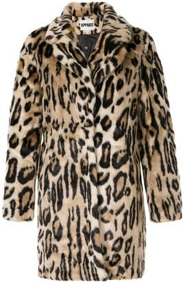 Apparis Lana leopard faux-fur coat