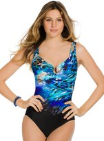 Miraclesuit Womens Escape Foiled Printed One-Piece Swimsuit