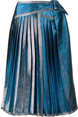 Marco De Vincenzo metallic pleated skirt