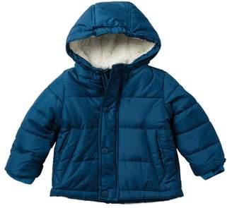 Ben Sherman Faux Fur Lined Puffer Jacket (Baby Boys)