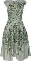 Zac Posen Embroidered Duchess Satin Dress