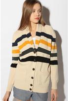BDG Striped Shawl Collar Cardigan