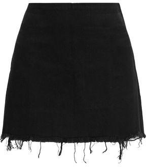 Alexander Wang Frayed Denim Mini Skirt