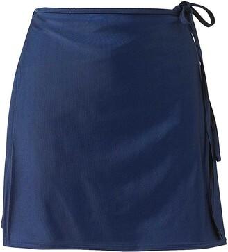 Scuba Ladies Swimwear Scuba Women's Mix & Match Plain Swimming Beach Full Wrap Skirt Cover Up UK Seller - Navy - Size 18