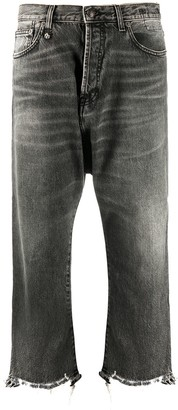 R 13 Tailored Drop mid-rise straight jeans
