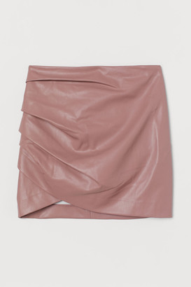 H&M Draped Mini Skirt - Pink
