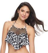 Apt. 9 Women's Flounce High Neck Bikini Top