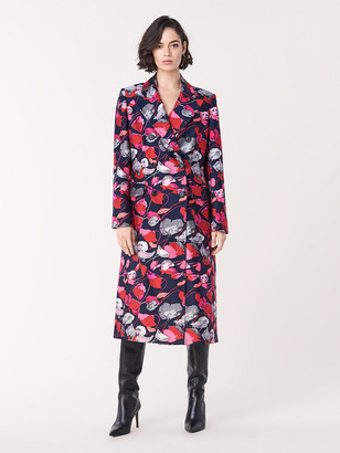 Diane von Furstenberg Elsa Mikado Double-Breasted Coat