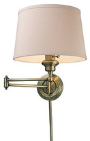 Axton Swing-Arm Sconce, Antiqued Brass