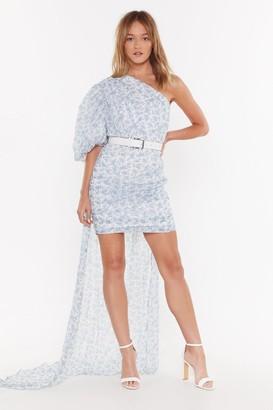Nasty Gal Womens Train Supreme One Shoulder Floral Dress - White