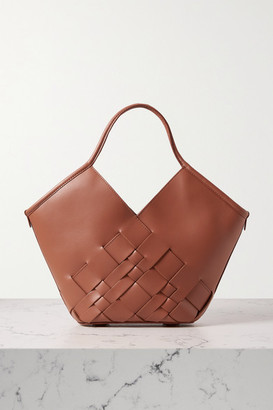 Hereu Coloma Small Woven Leather Tote - Tan
