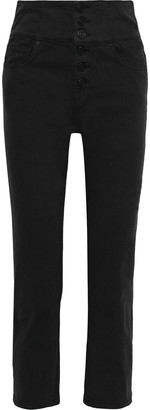 Joie Laurelle Cropped High-rise Straight-leg Pants