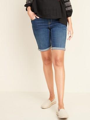 Old Navy Maternity Full-Panel Slim Bermuda Jean Shorts -- 9-inch inseam