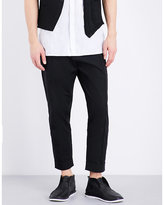 Isabel Benenato Loose-fit Tapered Cotton Trousers