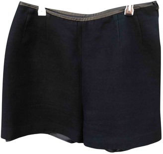 Sandro Navy Cotton Shorts