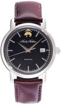 Brooks Brothers Round Watch with Calfskin Band