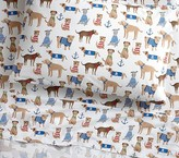 Pottery Barn Kids Salty Dog Sheeting : Twin : Brown Multi