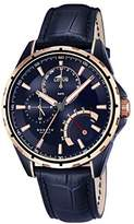 Lotus Men's Quartz Watch with Blue Dial Analogue Display and Blue Leather Strap 18210/1