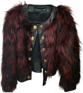 Balmain For H&M For H&m \N Burgundy Faux fur Jackets