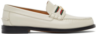 Gucci Off-White Interlocking G Loafers