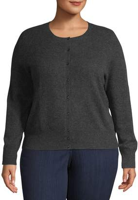Lord & Taylor Plus Cashmere Cardigan