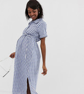 Glamorous Bloom shirt dress with belt in gingham